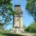 The Bismarck tower on the Kemmler hill in Plauen.