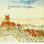 A painting of Gomaringen from 1683 by Andreas Kieser