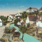 Eine alte Postkarte von Gomaringen