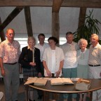 v.links: Hans Kern, Rose Schmid, Herr Breitmaier, Monica Schmid, Lawrence, Betty und Charles Walker