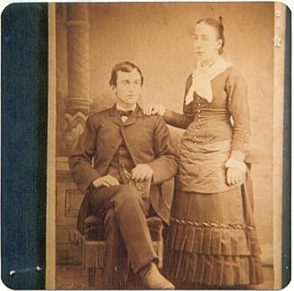 Hoss Philip Frederick mit Frau