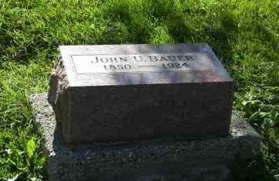 Tombstone of Johann Ulrich Bauer *26.09.1850, +1924