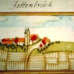 Bild von Jettenburg 1683 von Andreas Kieser