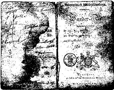 Wanderbuch of Johann Georg Walker