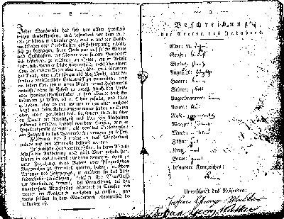 Page 3 & 4 of the Wanderbuch of Johann Georg Walker