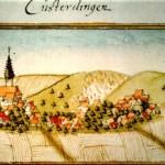 Bild von Kusterdingen 1683 von Andreas Kieser
