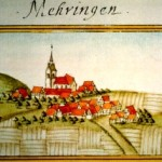 Painting of Maehringen 1683 by Andreas Kieser