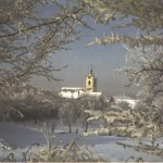 The church of Maehringen in the winter