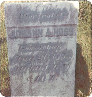 Johann Adam Hoss, *15.02.1793 +26.8.1853