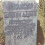 Tombstone of Johann Adam Hoss, *Feb 15, 1793. +Aug 26, 1853