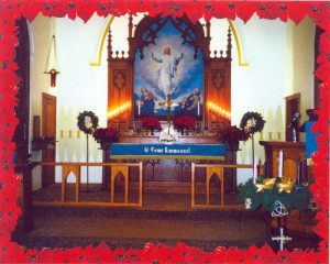 Alter of Trinity church in Marcus, IA