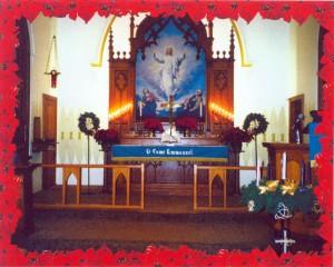 Alter of Trinity church in Marcus, IA