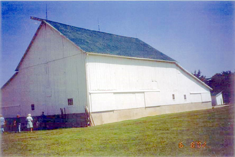 "Walker Barn which was owned by Jacob Walker and known as ""German Stock Farm"