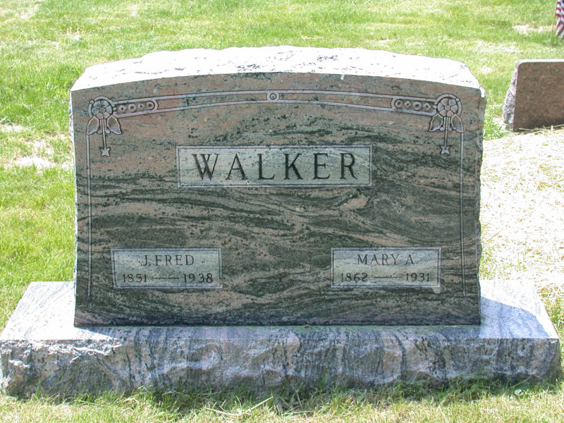 Tombstone of Johann Friedrich Walker
