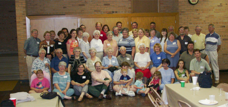 Walker family reunion on June 8, 2002