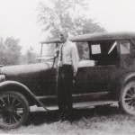 Jacob Walker with 1916 or 1917 Buick