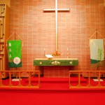 Altar of the Lutheran church in Hartford City, IN