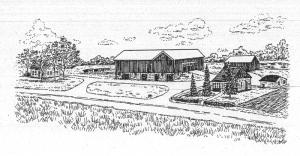 The Riehle farm as a post card